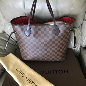💕Louis Vuitton Neverfull MM Damier 💕💕💕💕💕💕🌺